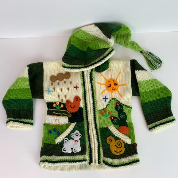 c6a47b95d7d77 alpaca Other - Alpaca hand knitted 3D design cardigan sweater